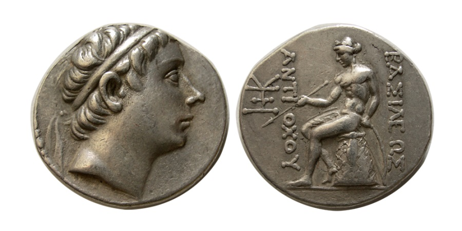 Ancient Coins - SELEUKID KINGDOM. Antiochus III. 223-187 BC. AR Tetradrachm.  Antioch on the Orontes.