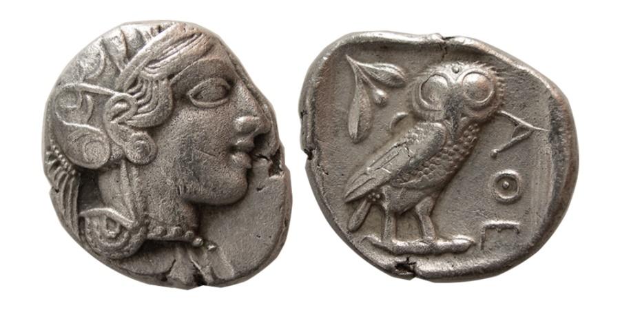 Ancient Coins - ATTICA, Athens. 440-404 BC. AR Tetradrachm.
