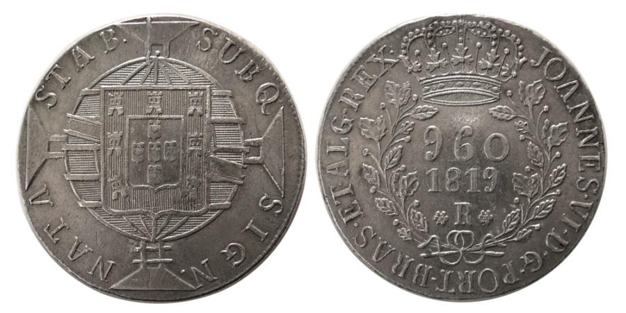 World Coins - BRAZIL. 1819-R. Rio Mint. 960 Reis. Lovely strike.