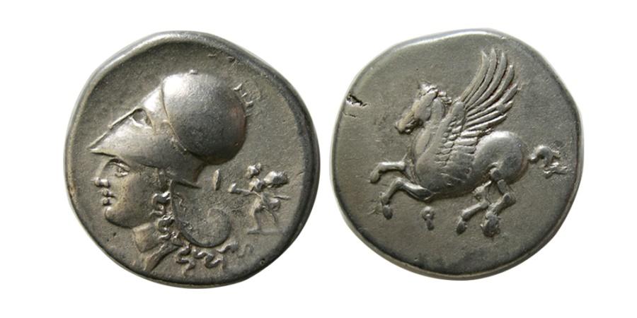 Ancient Coins - CORINTHIA. Corinth. Ca. 375-300 BC. AR Stater