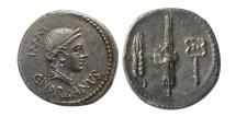ROMAN REPUBLIC. C. Norbanus. 83 BC. Silver Denarius.
