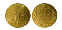 World Coins - NETHERLANDS. 1928.  Gold Ducat. Trade Coinage. Choice UNC. Lustrous.