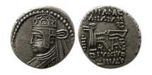 Ancient Coins - KINGS OF PARTHIA. Sanatrukes(?) Circa AD 116. AR Drachm. Rare. From The David Sellwood Collection