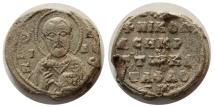 Ancient Coins - BYZANTINE LEAD SEAL. Circa 10th-11th centuries AD.