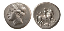 Ancient Coins - CALABRIA, Tarentum. Campano-Tarentine Series. After 276 BC. AR Nomos.