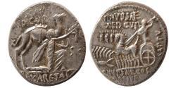 Ancient Coins - ROMAN REPUBLIC. M. Aemilius Scarus and Pub. Plautius Hypsaeus. 58 BC. Silver Denarius.