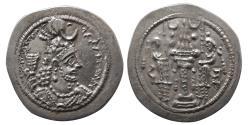 Ancient Coins - SASANIAN KINGS. Yazdgard I. (AD 399-420). AR Drachm.