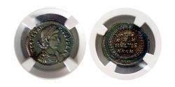 Ancient Coins - ROMAN EMPIRE. Constantius II. 337-361 AD. AR Siliqua. Sirmium. NGC XF (Strike 5/5; Surface 4/5).
