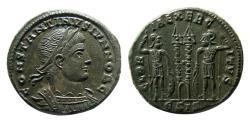 Ancient Coins - ROMAN EMPIRE. Constantine II, as Caesar, AD. 317-337. Æ Nummus. Siscia mint. Choice FDC.