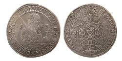 World Coins - GERMANY, August. 1553-1586.  Silver Taler.  1562, Dresden. Choice Superb EF.