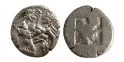 "Ancient Coins - ISLANDS OF THRACE, THASOS. Ca. 480-463 BC. AR Stater.  ""Almost as Struck""."