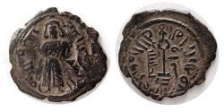 World Coins - ARAB-BYZANTINE. ISLAMIC, Umayyad Caliphate. temp. 'Abd al-Malik ibn Marwan, AH 65-86 / AD 685-705. AE Fals