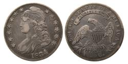 World Coins - United States. 1834. Half Dollar. Classic Head. Large date, small letters. R.1.