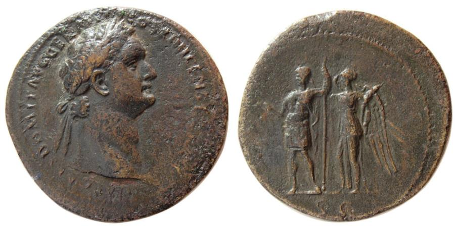 Ancient Coins - ROMAN EMPIRE. Domitian. AD 81-96. Æ Sestertius.