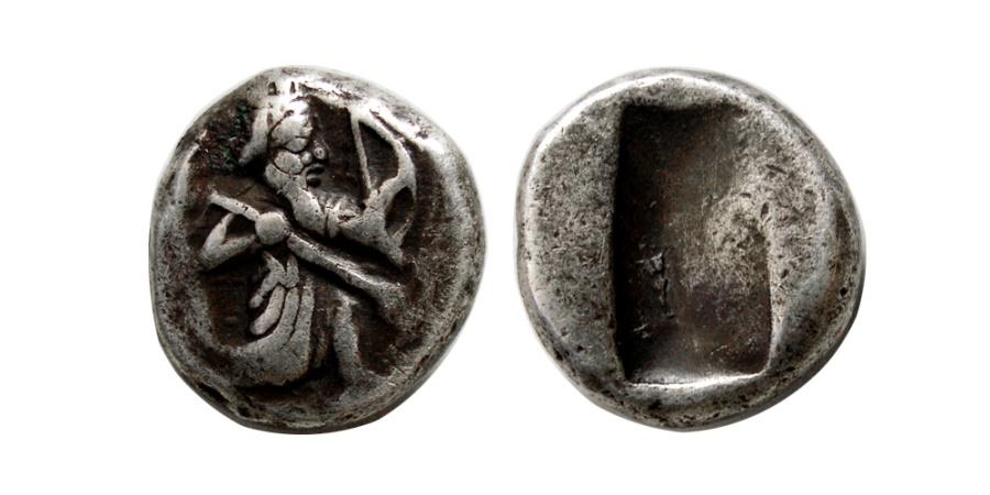 Ancient Coins - ACHAEMENID EMPIRE. temp. Xerxes II to Artaxerxes II. Circa 420-375 BC. AR Siglos. Extremely Rare.