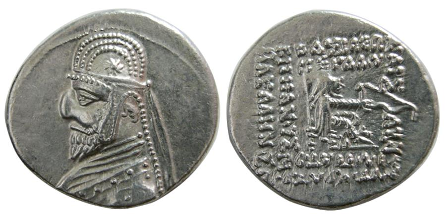 Ancient Coins - PARTHIAN KINGS. Mithradates III. 87-80 BC. AR Drachm.