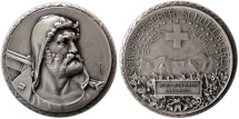 World Coins - SWITZERLAND. 1963. William Tell Shooting Festival, Silver Medal.