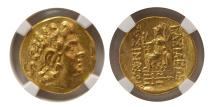 Ancient Coins - PONTIC KINGDOM, Mithradates VI. 120-63 BC. Gold Stater. NGC-AU. Lustrous.