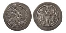 Ancient Coins - SASANIAN KINGS. Yazdgird II. AD. 438-457. AR Drachm.