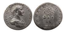 Ancient Coins - ARABIA, Bostra. Trajan. AD 98-117. AR Tridrachm. Rare.