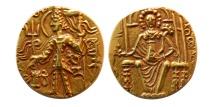 World Coins - INDIA. Kushan Kings. Vasudeva II. Circa 290-310 A.D. Gold Dinar.