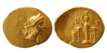Ancient Coins - IONIA. Ephesus. Ca. 133-88 BC. Gold Stater. year 2 (133/2 BC.) . Very rare. Ex. Frank L. Kovacs.