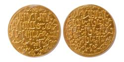 World Coins - ISLAMIC DYNASTIES. SELJUQS of RUM. The Three Brothers. Gold Dinar. Konya mint.  ANACS MS 63.