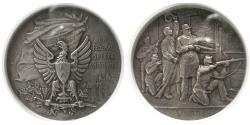 World Coins - SWISS SHOOTING FESTIVAL. 1898. AR Medal. Neuchatel. NGC-MS 62.