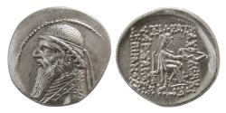 Ancient Coins - KINGS of PARTHIA. Mithradates II. 121-91 BC. AR Drachm.
