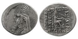 Ancient Coins - KINGS of PARTHIA. Mithradates II. 123-88 BC. AR Drachm.
