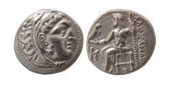 Ancient Coins - KINGS of MACEDON. Alexander III. 336-323 BC. AR Drachm. Kolophon. Struck under Antigonos I.