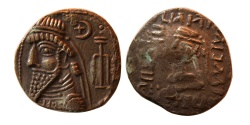 Ancient Coins - ELYMIAN KINGS. Uncertain King. Late 1st century BC.– early 2nd century AD. Billon Tetradrachm