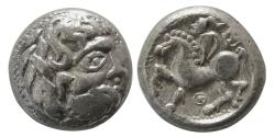 Ancient Coins - CELTS, NORTH DANUBE. Imitating Philip II of Macedon. 359-336 BC. AR Tetradrachm.