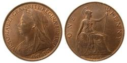 World Coins - GREAT BRITAIN. Queen Victoria. 1900 AE Penny.