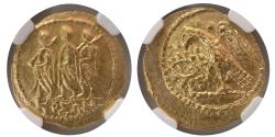 Ancient Coins - THRACE, Dynasts of Koson. mid to early 1st century BC. Gold Stater. NGC-AU.