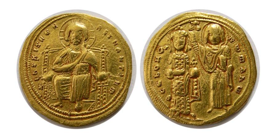 Ancient Coins - BYZANTINE EMPIRE. Romanus III. 1028-1034 AD. AV Histamenon Nomisma.