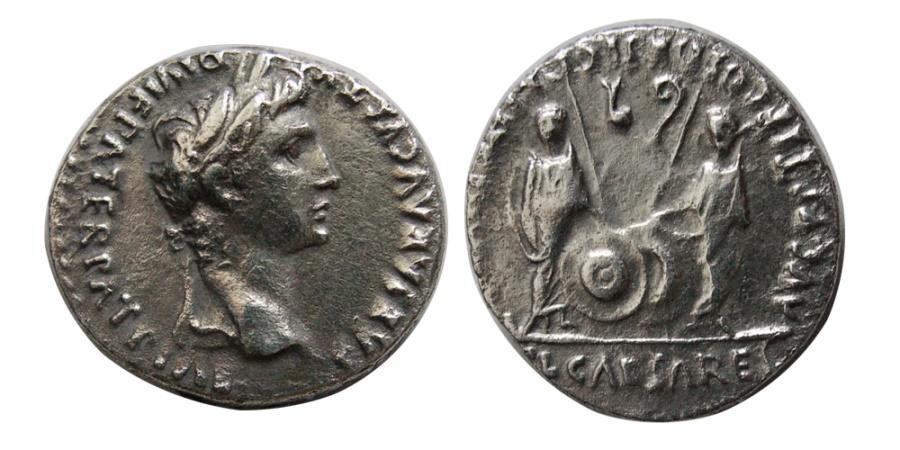 Ancient Coins - ROMAN EMPIRE. Augustus. 27 BC.- 14 AD. AR Denarius.