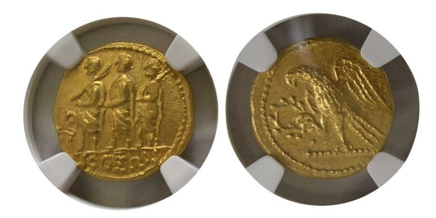 Ancient Coins - THRACE, Dynasts of Koson. after 54 BC. Gold Stater. NGC-MS (Strike 5/5; Surface 5/5). Lovely example.