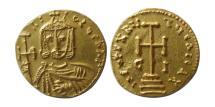 Ancient Coins - BYZANTINE EMPIRE. Nicephorus I. AD. 802-811. Gold Solidus. Syracuse mint. Lustrous. Rare.
