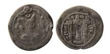 SASANIAN KINGS. Zamasp. 497-499 AD. AR Drachm. Scarce.
