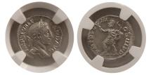 Ancient Coins - ROMAN EMPIRE. Severus Alexander. 225-235 AD.  AR Denarius.  NGC-MS*
