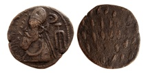 Ancient Coins - KINGS OF ELYMIAS. Orodes I. Circa 50-100 AD. Æ Tetradrachm. Very rare variety.