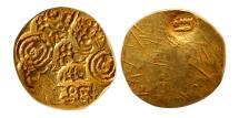 World Coins - INDIA, Yadavas of Devagiri. Bhilama V. 1185-1193 AD. Gold Pagoda.