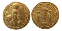 Ancient Coins - SASANIAN KINGS. Varahran (Bahram) II. Gold Dinar. Very Rare.