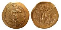 Ancient Coins - KUSHANO-SASANIAN KINGS. Peroz I Kushanshah. Circa AD. 246-245. Gold Dinar. Lovely strike. Rare.