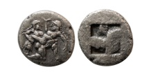 Ancient Coins - THRACE, Islands off. Thasos. Circa 463-411 BC. AR Drachm.