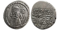 Ancient Coins - KINGS of PARTHIA. Vologases IV. Circa AD. 147-191. AR Drachm