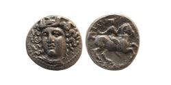 Ancient Coins - THESSALY, Larissa.  Late 4th-early 3rd centuries BC. Silver Trihemiobol. Rare.