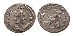Ancient Coins - ROMAN EMPIRE. Otacilia Severa. 244-249 AD. AR Antoninianus. Choice FDC.