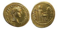 Ancient Coins - ROMAN EMPIRE. Tiberius. AD. 14-37. Gold Aureus. Tribute Penny type.